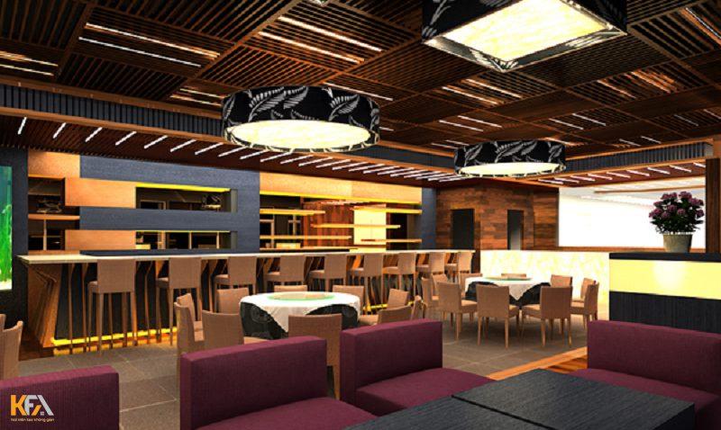 Mẫu trần thạch cao cho quán cafe theo phong cách hiện đại