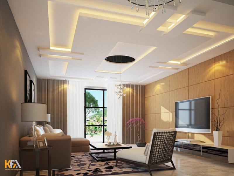 Loại trần thạch cao nhà cấp 4 này phù hợp với mọi không gian vì không cần thiết kế cầu kì