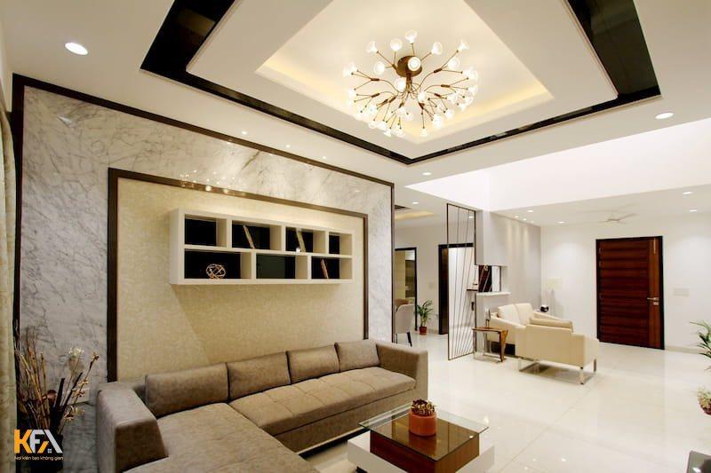 Nếu chung cư của bạn có diện tích nhỏ thì các mẫu trần thạch cao cần được tối giản về những đường nét, họa tiết